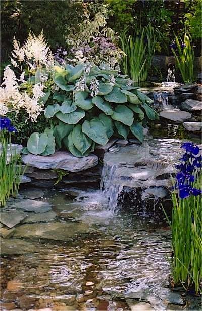 Artificial rocks garden Pinterest Estanques, Cascadas y Jardines - Cascadas En Jardines