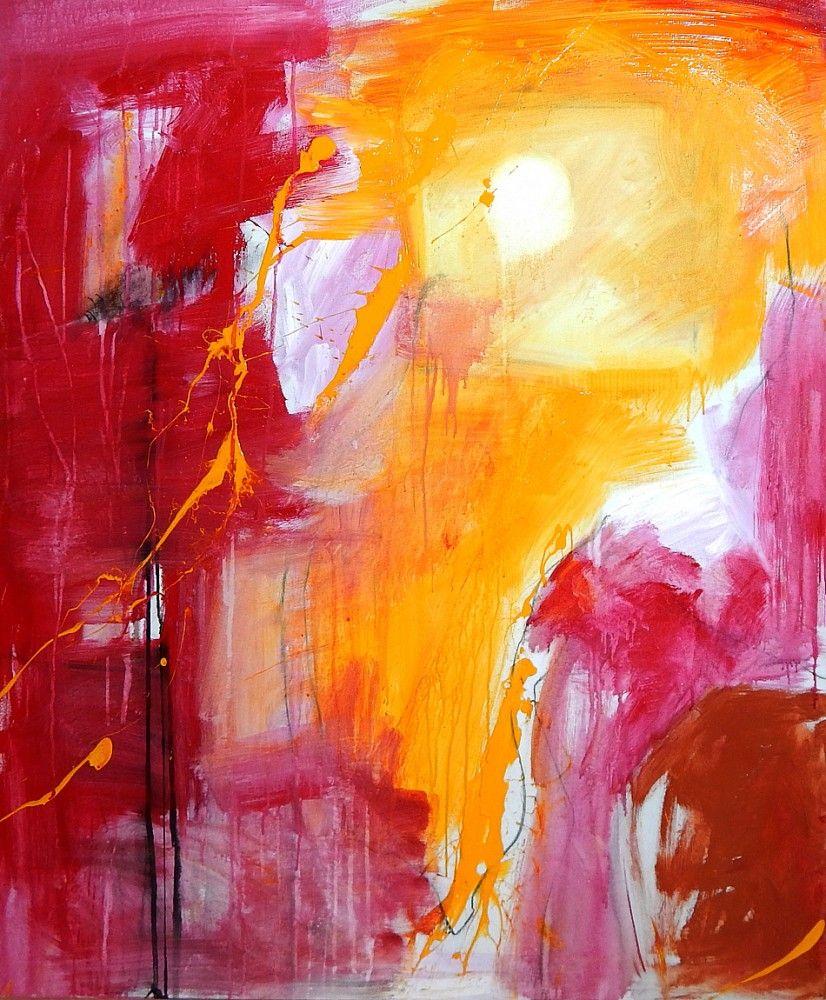 abstrakte kunst pink rot gelb abstract abstrakte kunst kunst und abstrakte malerei. Black Bedroom Furniture Sets. Home Design Ideas