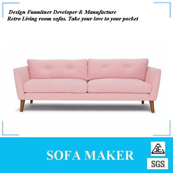 Factory direct sale modern pink fabric sofa | alibaba | Pinterest ...