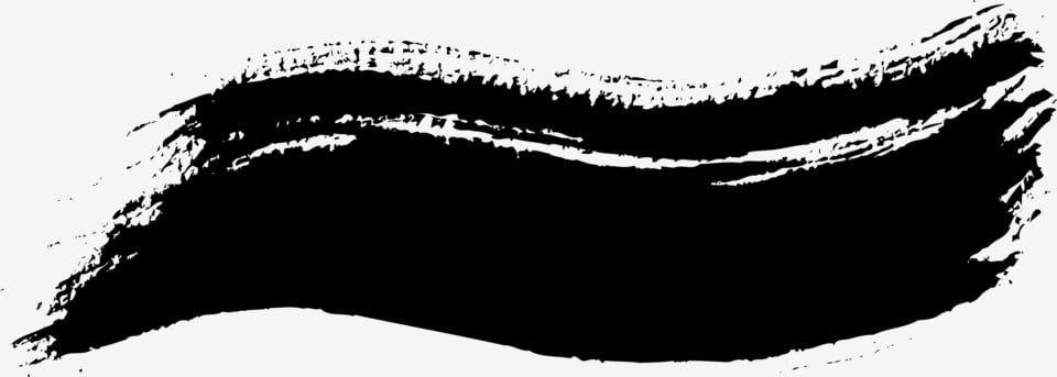 قلم حبر و فرشاة حبر تصميم فرشاة حبر موجة الخط المتموج أسود Png والمتجهات للتحميل مجانا Ink Brush Brush Pen Ink