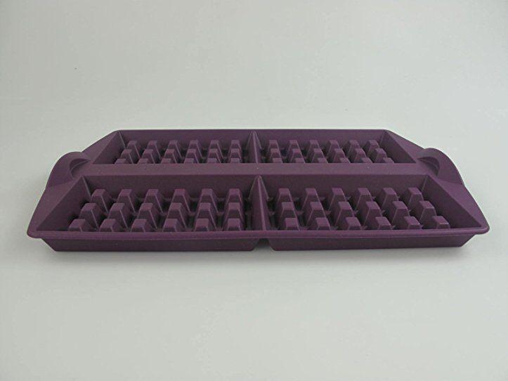 5e23f2bca84cd TUPPERWARE Backen Silikonform Waffeln lila Silikon Form Waffel Waffelfom  H46 - tupperware aufbewahrung küche ideen aufbewahrung
