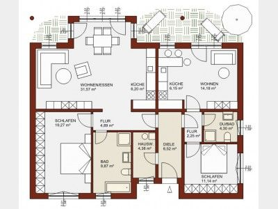 grundriss eg planungsvariante einliegerwohnung grundriss immodesign in 2019 haus mit. Black Bedroom Furniture Sets. Home Design Ideas