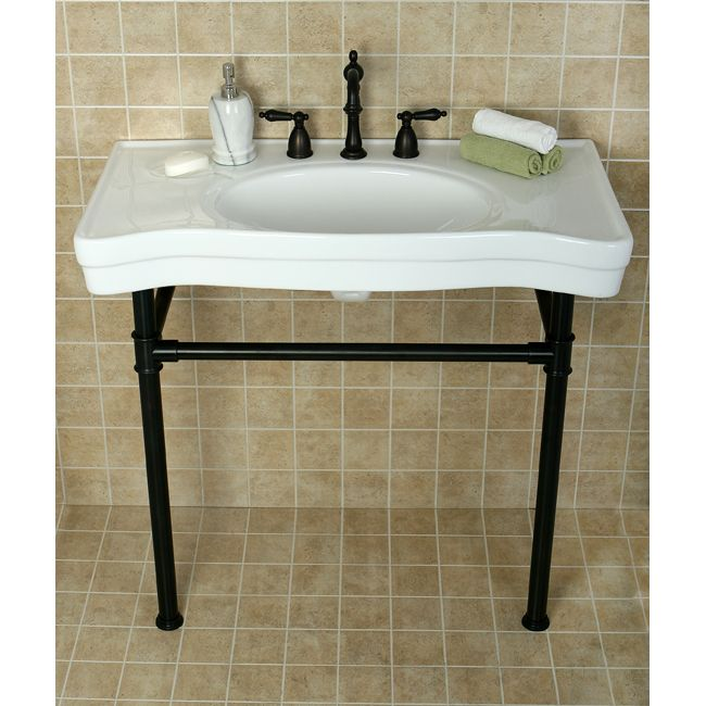 Vintage Oil Rubbed Bronze Pedestal Bathroom Sink Banos