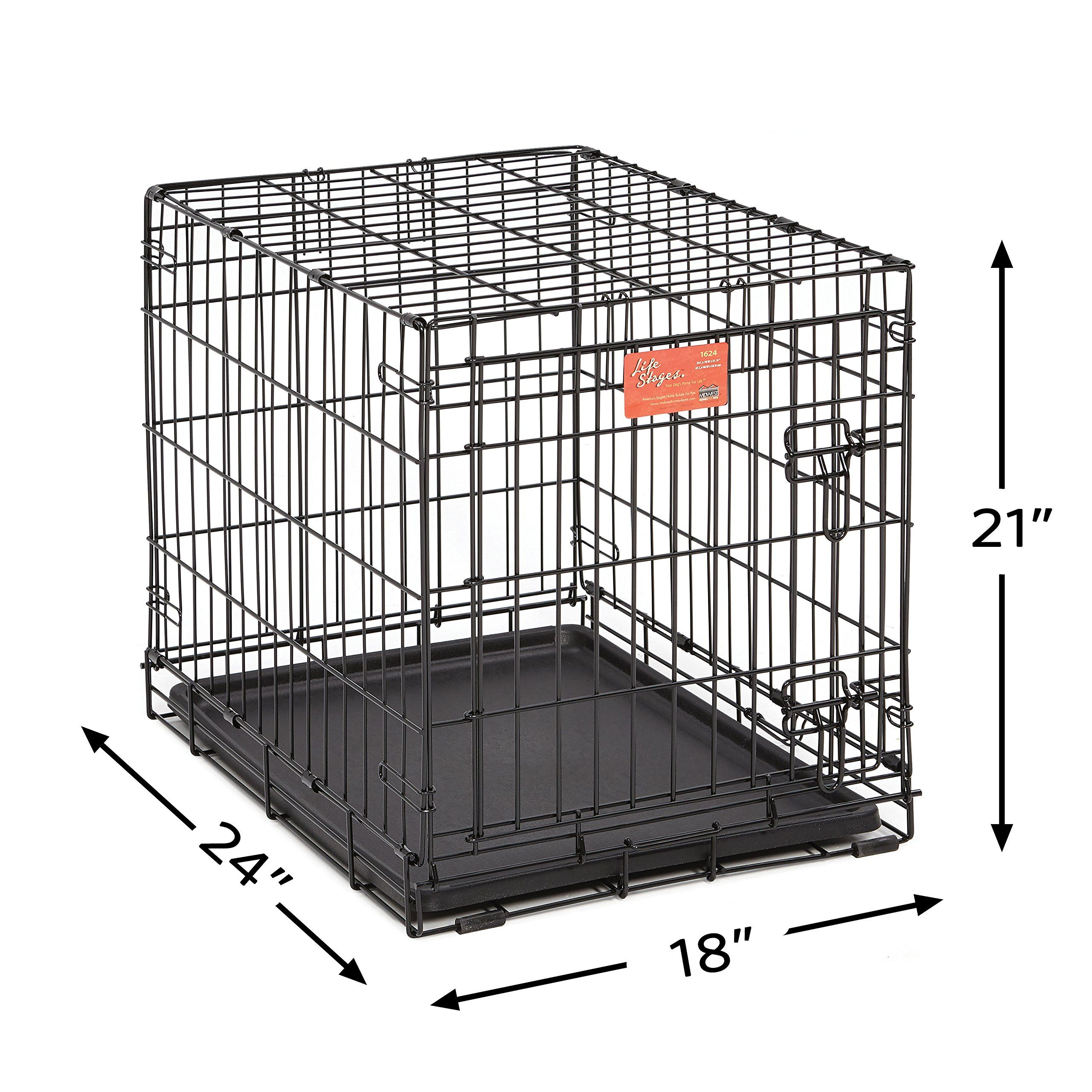 Small Dog Crate Midwest Life Stages 24 Folding Metal Dog Crate