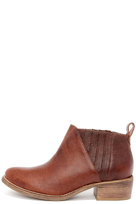 Matisse El Toro Brown Leather Ankle Boots | Brown leather, The o ...