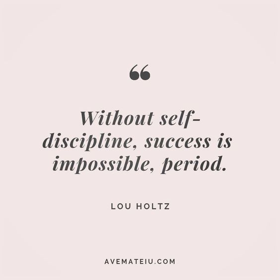 Without self-discipline, success is impossible, period. Lou Holtz Quote 154