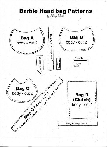 5. Barbie Handbag Patterns | Barbie kleider, Barbie und Nähe
