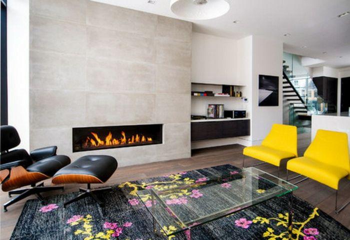 künstliches feuer -modernes wohnzimmer gestalten Deco Pinterest - modern wohnzimmer gestalten