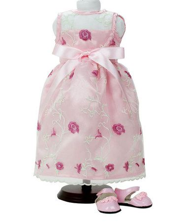 "Look at this #zulilyfind! Pink Embroidered Flower Dress for 18"" Doll by Sophia's #zulilyfinds"