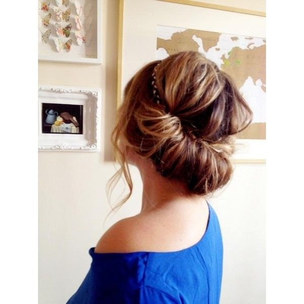 Headband on Updo Hairstyles and Beauty Tips ❤ liked on Polyvore featuring hair