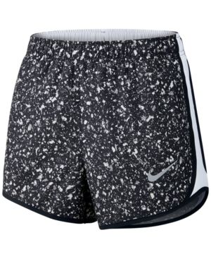 Small, Black NIKE Printed Tempo Running Shorts