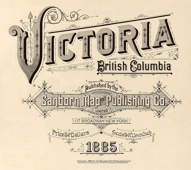 Victoria British Columbia Canada 1885 Axxfffffffffffff