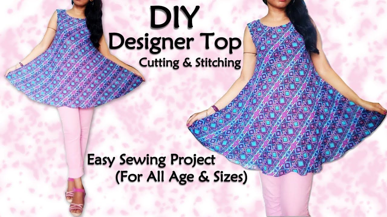 a8f03a4714e2 Diy Designer Top Cutting & Stitching | Sewing for Beginners - YouTube