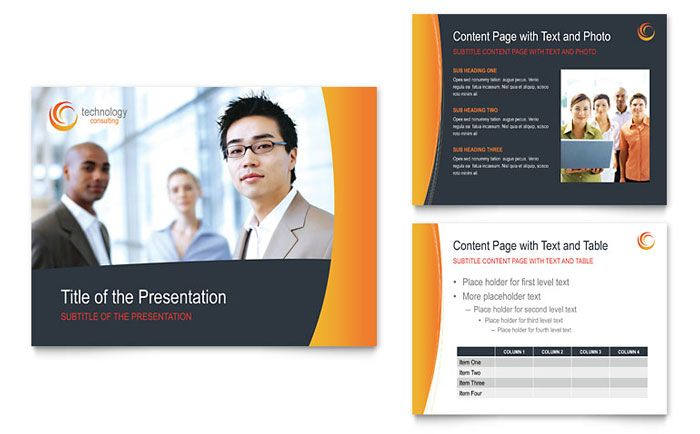 free sample powerpoint presentation template biz marketing