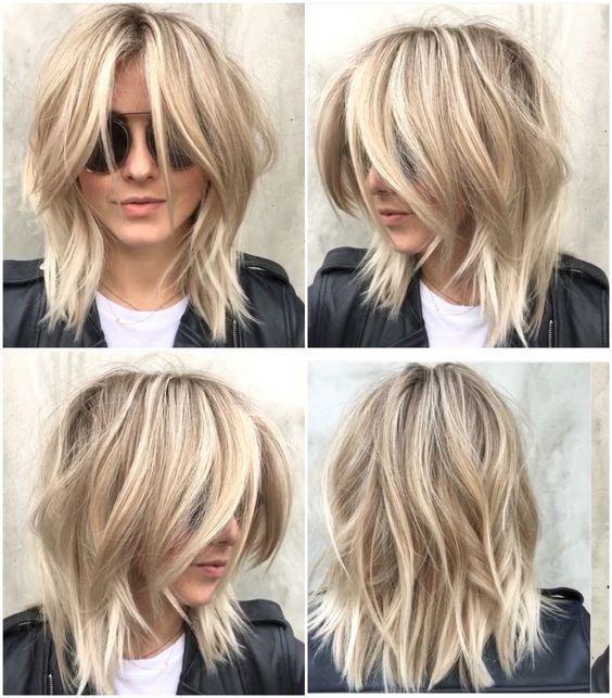 Modne Włosy 2019 Fryzury Półdługie Cieniowane Hair