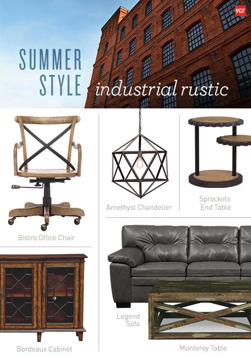 You yearn for the barn but love the city life. You are the Industrial Rustic type
