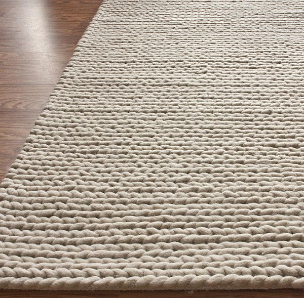 wool knit cable rug | knitted rug, modern and knit crochet
