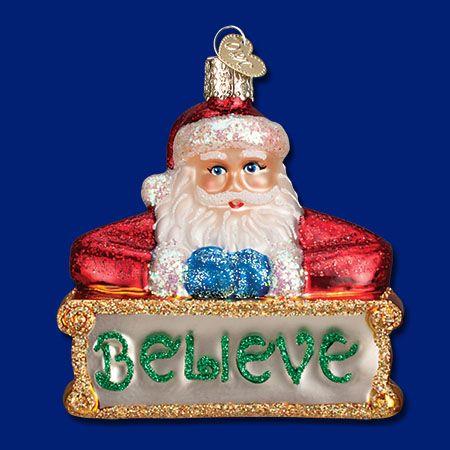 40262-Believe Santa Natal Pinterest Ornament
