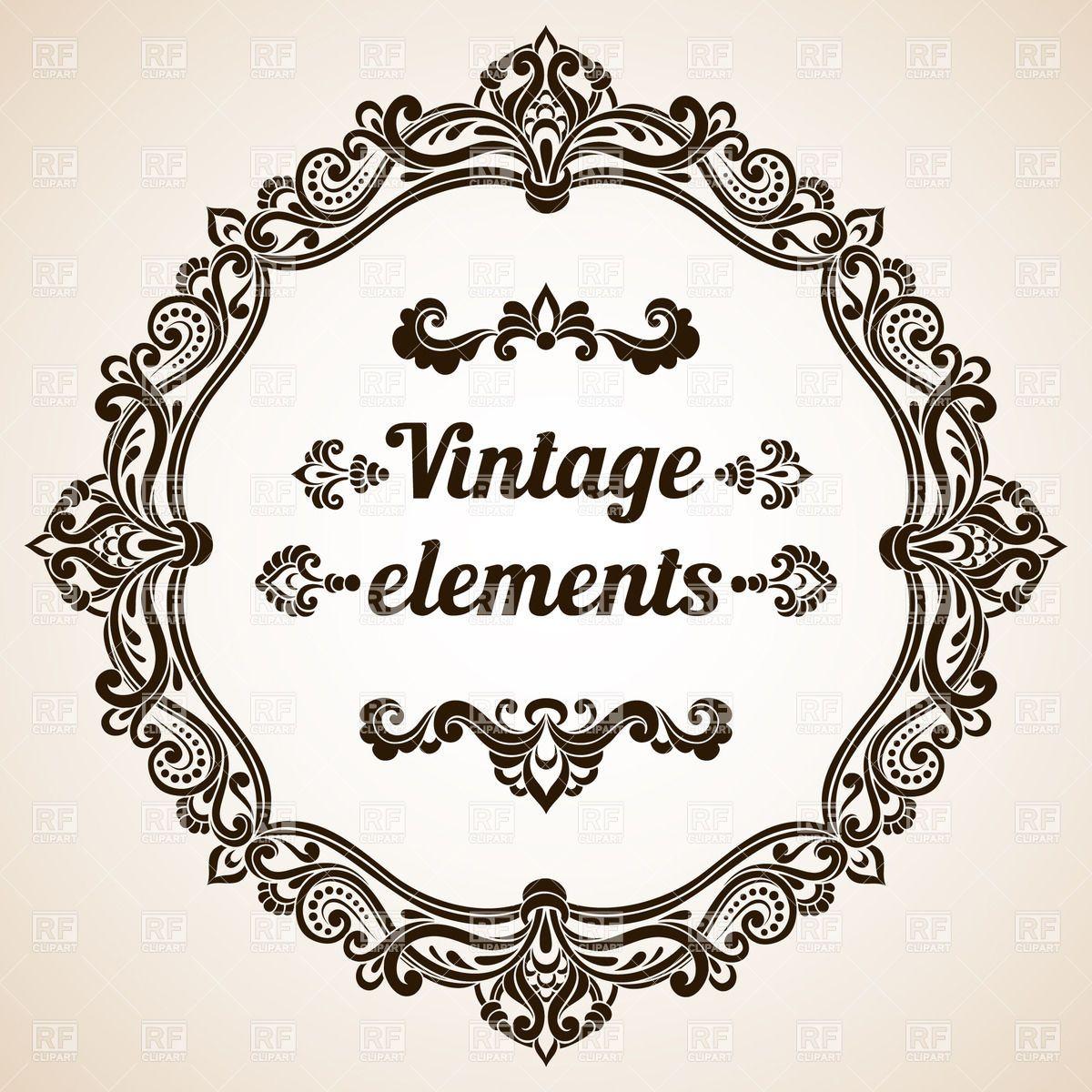 vintage frames vectors forward round vintage frame with ornate border ... Vintage Border Vector