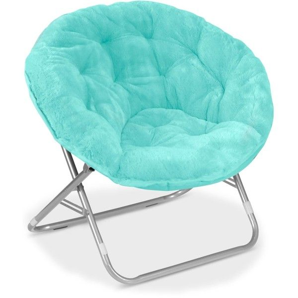 Adult Saucer Chair Metal Frame Arron Faux Fur Found On Polyvore Featuring Home Furniture Chairs Aqua Plush And