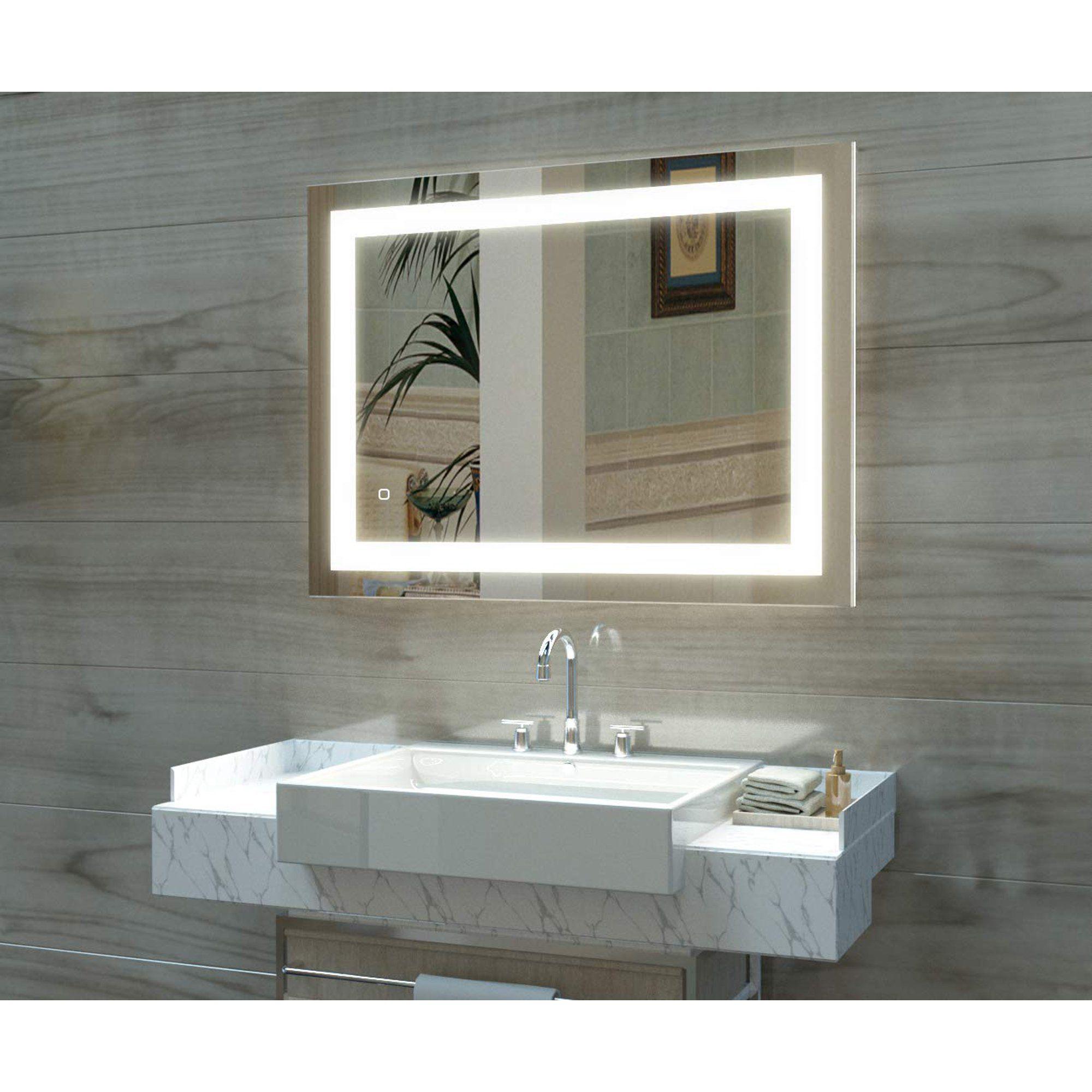 Ktaxon Anti Fog Led Backlit Mirror Illuminated Wall Mirror Bathroom Mirror With Touch Button Walmart Com Bathroom Wall Hanging Led Mirror Bathroom Wall Mounted Mirror [ 2000 x 2000 Pixel ]