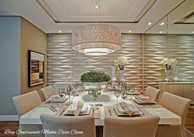 Salas de jantar decoradas com mesas brancas veja dicas for Modelos de salas pequenas
