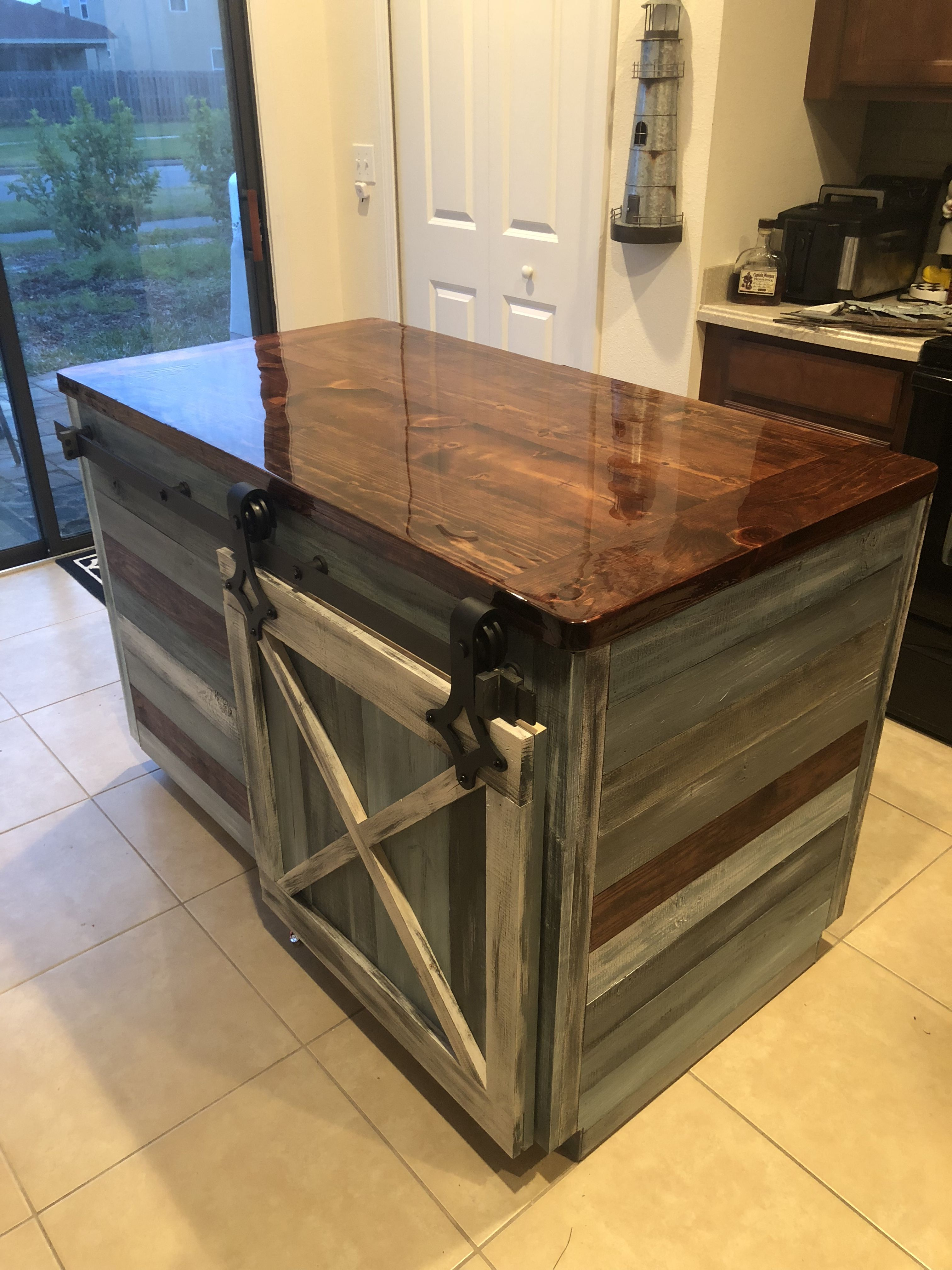 Gorgeous Custom Kitchen Island By Rob Conklin Jr At Pristine Finishes Woodwork In St