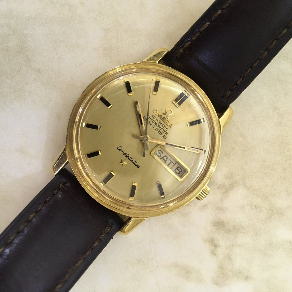15108041bd3 Vintage Omega Constellation Day-Date in Yellow Gold