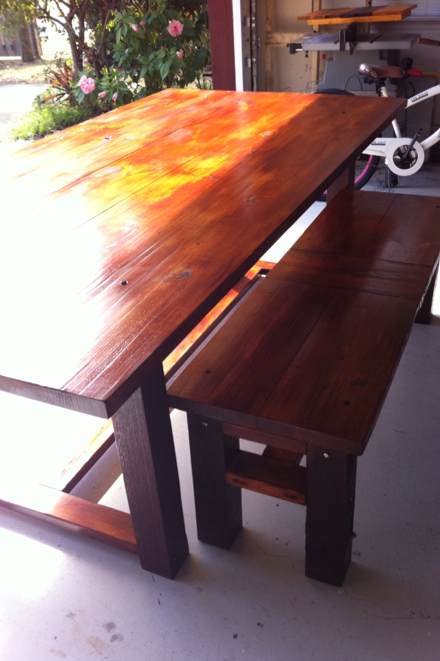 Farm Table we made! Such a fun project!