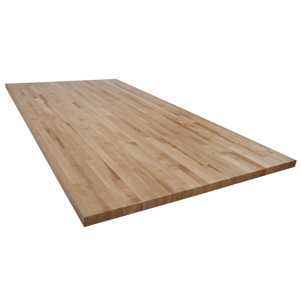 Swaner Hardwood 8 Ft L X 4 Ft D X 1 75 In T Butcher Block