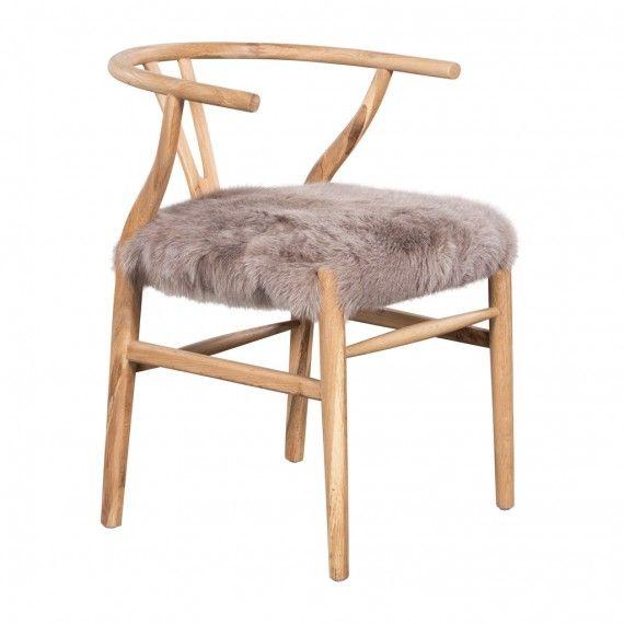 CRANE CHAIR FUR SEAT BEIGE   Living   HD Buttercup Online U2013 No Ordinary Furniture  Store