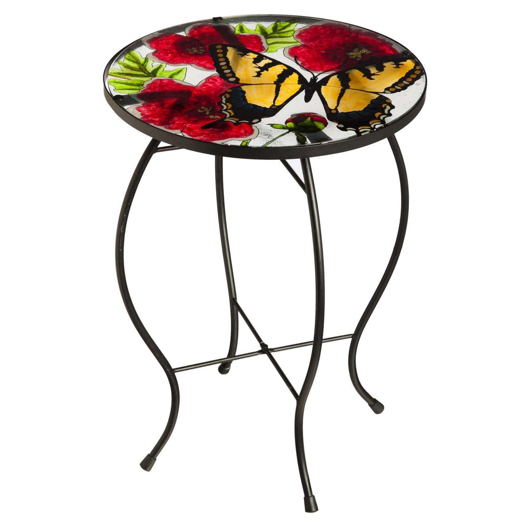 Outdoor Evergreen Enterprises Butterfly Flutter Glass Table - 84G604