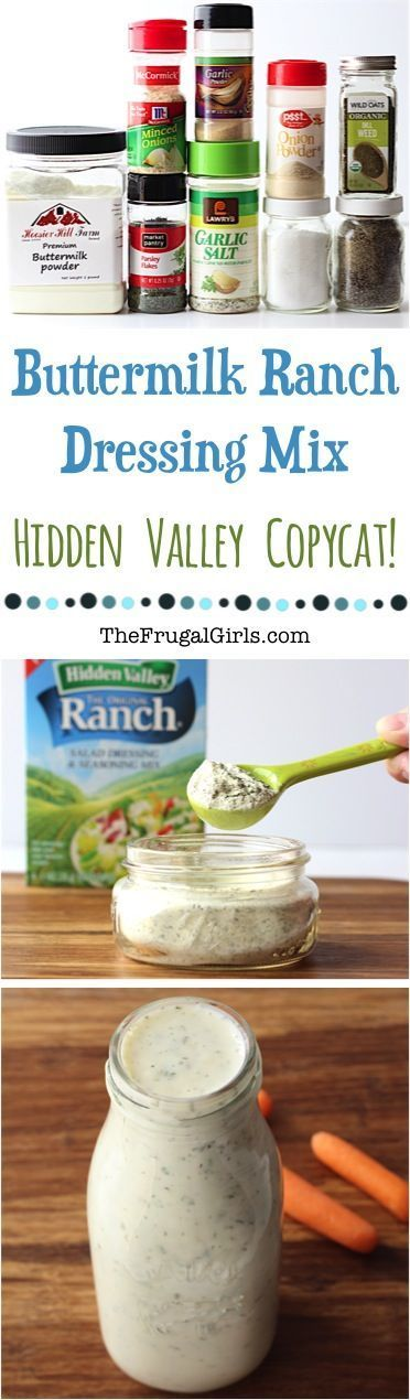 Buttermilk Ranch Dressing Mix Recipe Hidden Valley Copycat At Thefrugalgirls Com Skip The Store Bought Ranch Dressing Mix And Make This Food Butte