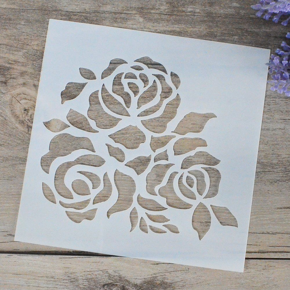 Flower Stencil Scrapbooking Stencil Painting Stencil Etsy Geometric Stencil Flower Stencil Stencil Painting