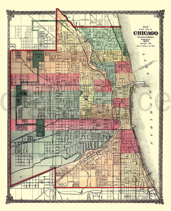 Chicago Map Printable.Vintage Nyc Map Old Map 1915 Lower Manhattan New York City