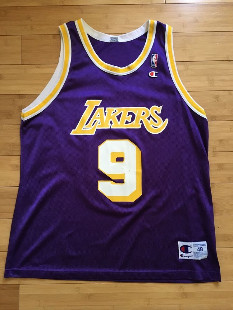 Nick Van Exel Champion Los Angeles Lakers Jersey 48 XL RARE  f4be6f8fc