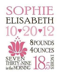 Birth Announcements Template.    Name, date, time - Poor Richard  Weight and inches -  Fang Song  Flower - Kalocsai Flowers