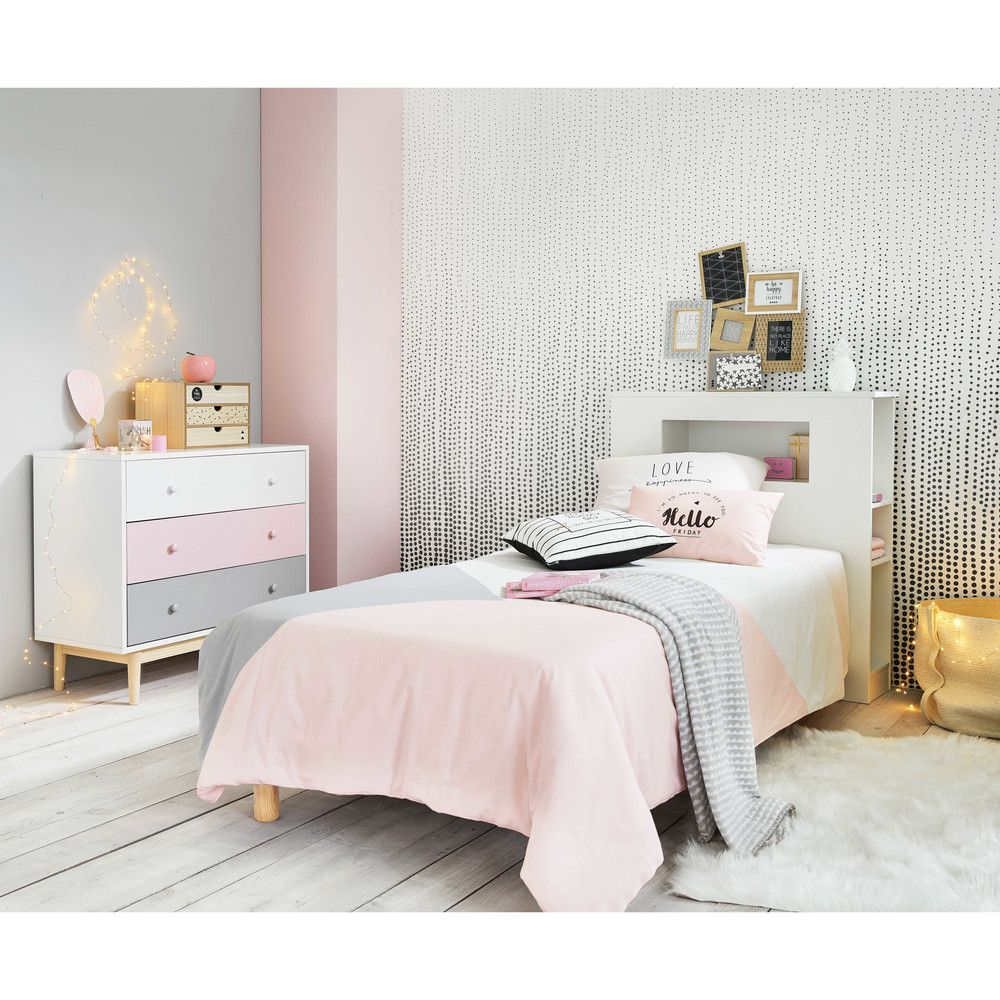 Scatola a 3 cassetti con stampe | Kids | Pink bedroom design, Pink ...