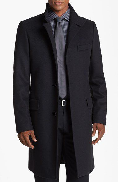 Boss Hugo Boss Sintrax Wool Blend Coat Nordstrom Mens Outfits Hugo Boss Well Dressed Men