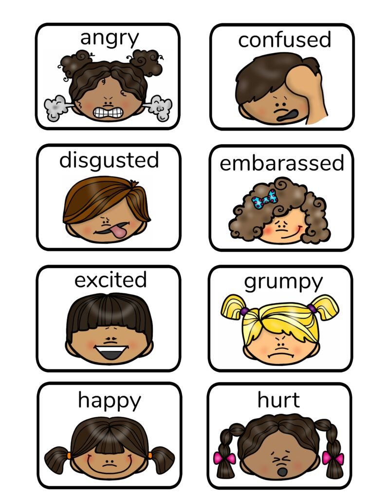 Free Printable Emotion Faces and Activities | Communication ...