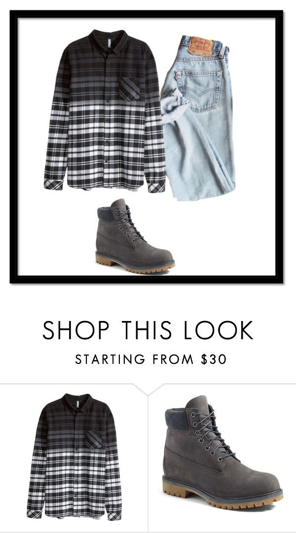 """""""Meh 4"""" by sheyla-vamps-kawaii on Polyvore featuring moda, H&M y Timberland"""