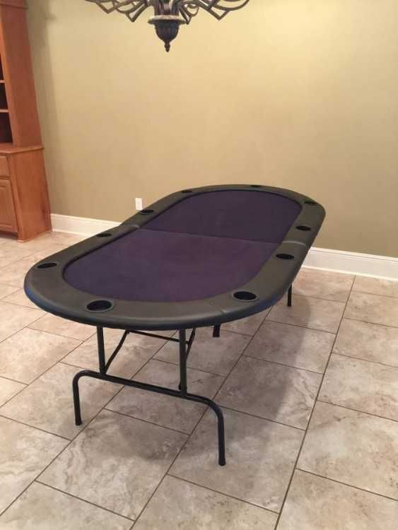 black folding poker table top w 2f cup holders for 8 10 people rh pinterest com