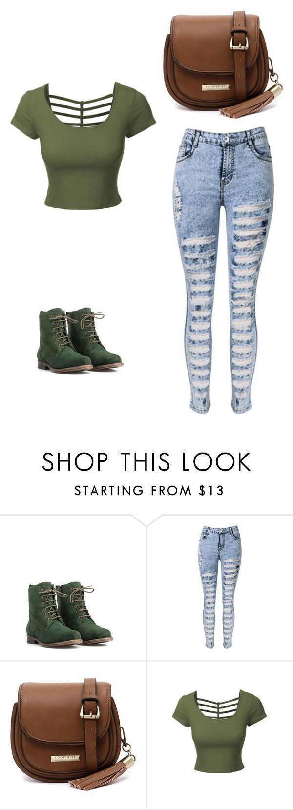 """""""Outfit Idea by Polyvore Remix"""" by polyvore-remix ❤ liked on Polyvore featuring JJ Footwear, WithChic, Cooper St and LE3NO"""