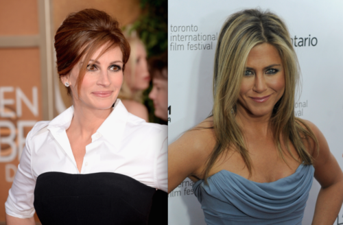 The Stir-Jennifer Aniston's New Look Is So Gorgeous Even Julia Roberts Wants to Steal It