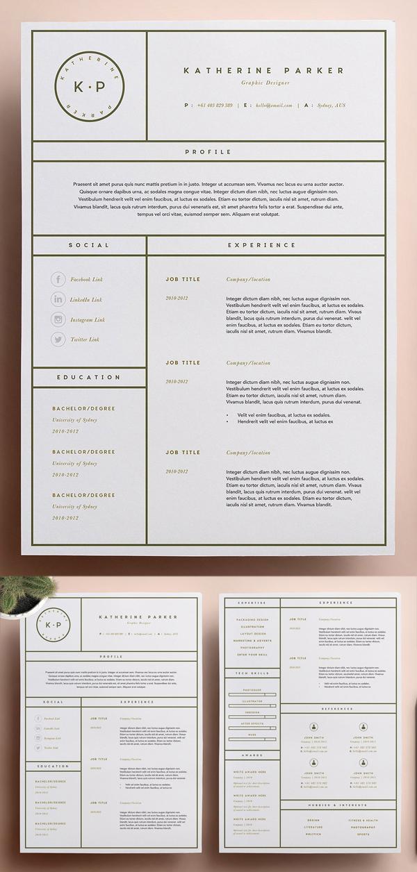 20 Best Simple Clean Resume Templates Resume Design Creative Graphic Design Resume Resume Layout