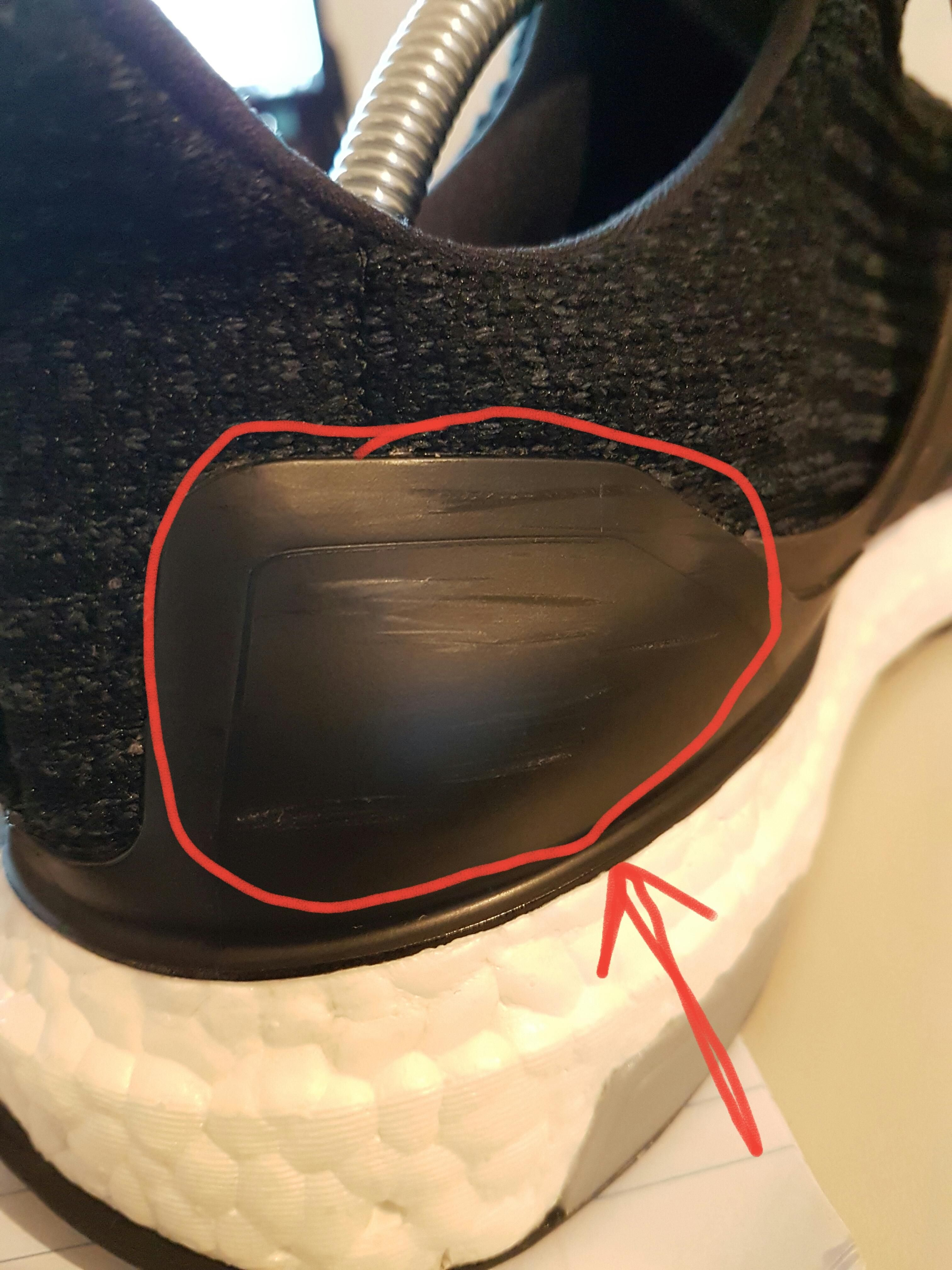 How to remove these scuffs on the ultra boost 'heel cage