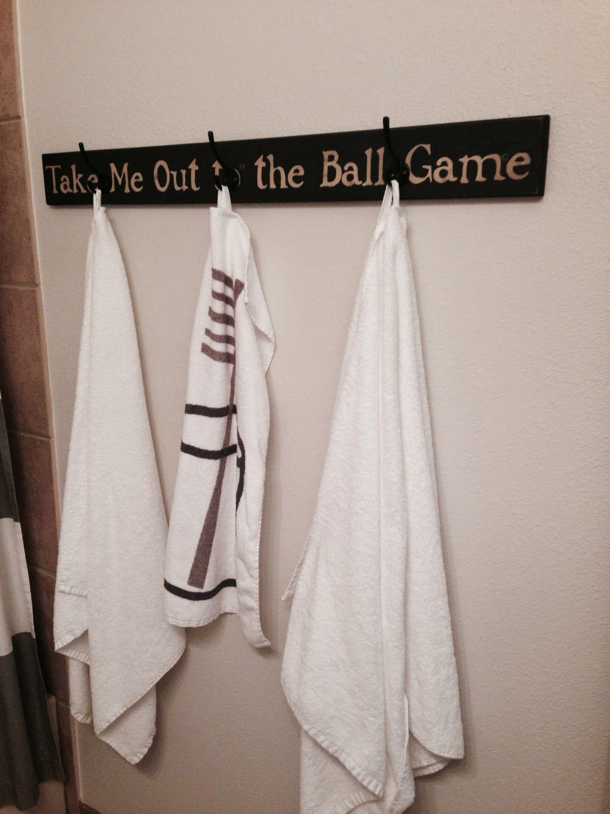 Baseball bathroom ideas - Life After Baseball Try It Tuesday Baseball Bathroom Decorsports