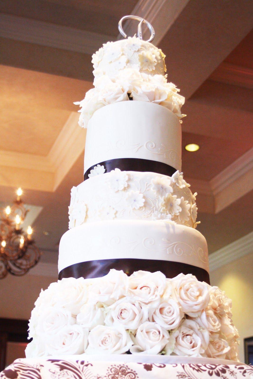 Wedding decor all white  Wedding Cakeeditedg   Let them eat  CAKE