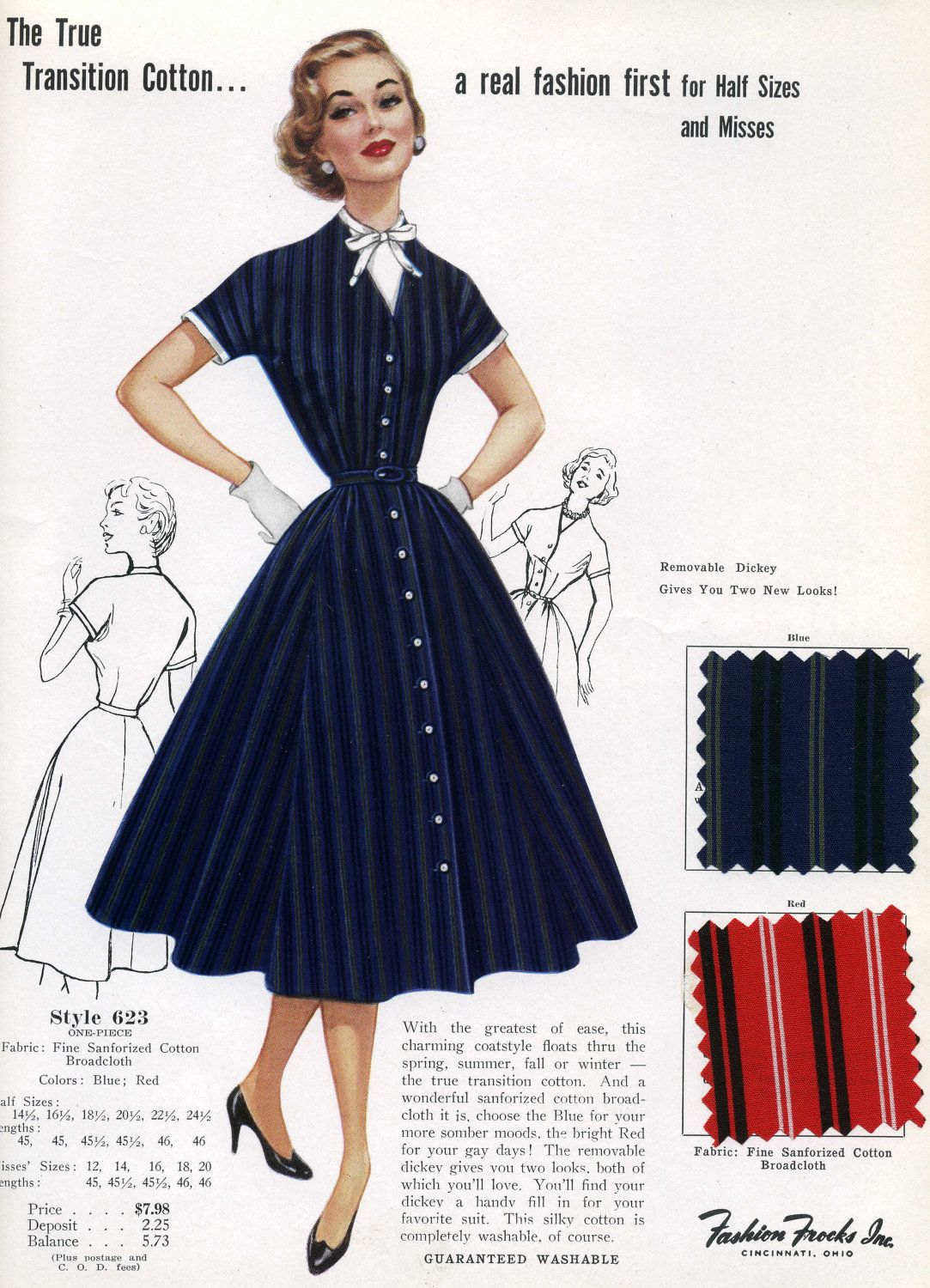 Image result for 1950s dress advertisement