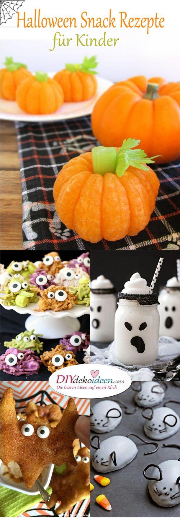 Einfache und leckere Halloween Snack Rezepte für Kinder #rezepteherbst